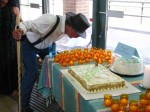 Blowing out candles at Eldering Ceremony
